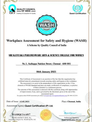 Workplace Assessment for Safety and Hygiene
